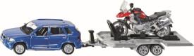 SIKU 2547 SUPER - PKW mit Anhänger und Motorrad, 1:55, ab 3 Jahre
