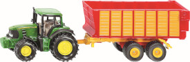 SIKU 1650 SUPER - John Deere mit Silagewagen, ab 3 Jahre