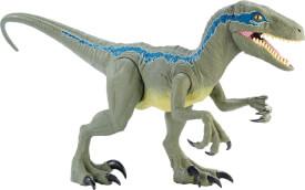 Mattel GCT93 Jurassic World Riesendino Velociraptor Blue