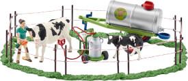 Schleich Farm World Bauernhoftiere - 41428 Kuhfamilie auf der Weide, ab 3 Jahre