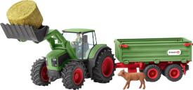 Schleich Farm World Bauernhof - 42379 Traktor mit Anhänger, ab 3 Jahre