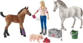 Schleich 42486 Farm World Arztbesuch bei Stute und Fohlen