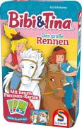 Schmidt Spiele Bring-mich-Mit-Spiel in Metalldose, Bibi & Tina, Das große Rennen
